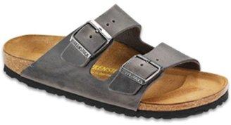 Birkenstock Unisex Arizona Leather Sandal,Iron