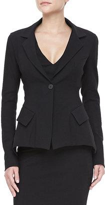 Donna Karan Stretch Modern-Peplum Jacket