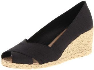Lauren Ralph Lauren Women's Cecilia Wedge Sandal,Black,5 B US