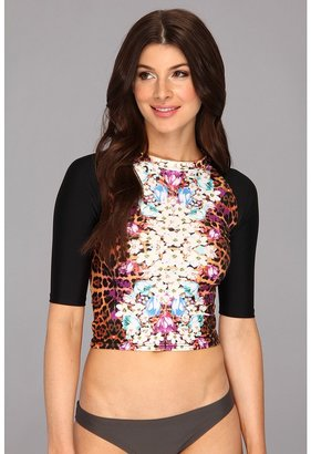MinkPink Animal Fleur Rash Shirt (Multi) - Apparel