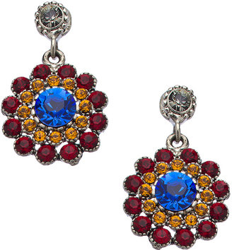 Swarovski Otazu Multicolor Crystal Flower Earrings