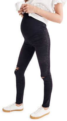 Madewell Maternity Over-the-Belly Skinny Jeans with Ripped Knees