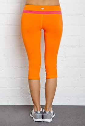 Forever 21 active colorblocked workout capri leggings
