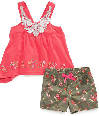 Nannette Baby Set, Baby Girls 2-Piece Top and Shorts