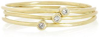 Jennifer Meyer Set of three 18-karat gold diamond stacking rings