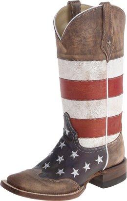 Roper Women's American Flag Square Toe Boot