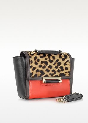 Diane von Furstenberg 440 Mini Leopard Print Haircalf Shoulder Bag