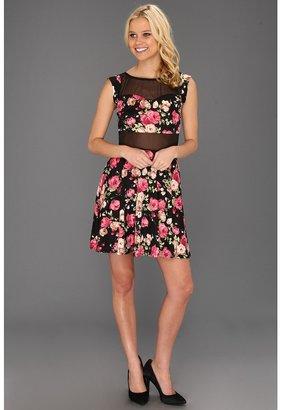 Type Z Kerrin Floral Dress (Black) - Apparel