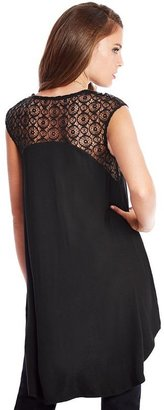 GUESS by Marciano Tess Lace Tunic Top