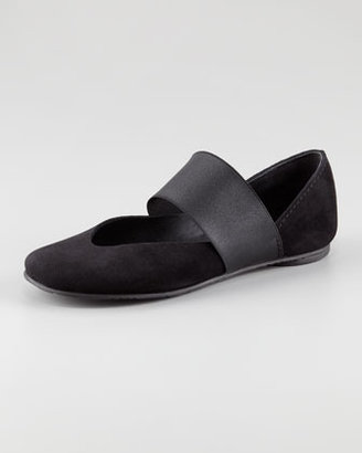 Pedro Garcia Gloria Suede Ballerina Flat, Black