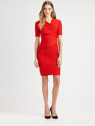 Carven Draped Jersey Dress