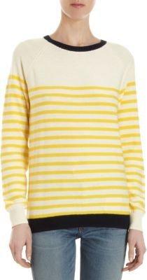 Trovata Colorblock Striped Pullover