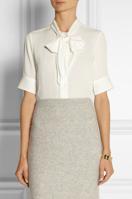 Marc Jacobs Pussy-bow silk-crepe blouse