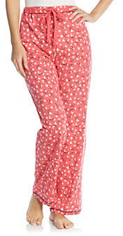 Cuddl Duds Sleep Purrfect Day Knit Pants - Red Heart