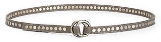 Eileen Fisher Studded Leather Skinny Belt