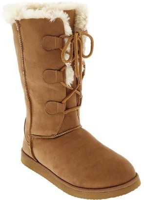 Old Navy Women's Faux-Suede Lace-Up Boots