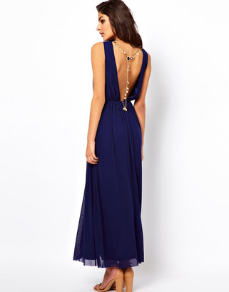 Rare Maxi Dress with Open Back and Chain Detail