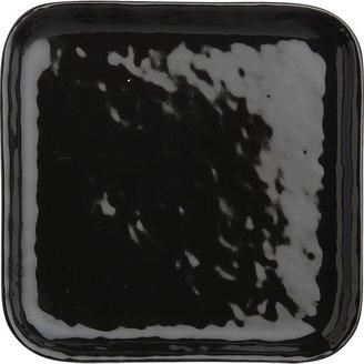 Crate & Barrel Mercer Black Square Appetizer Plate