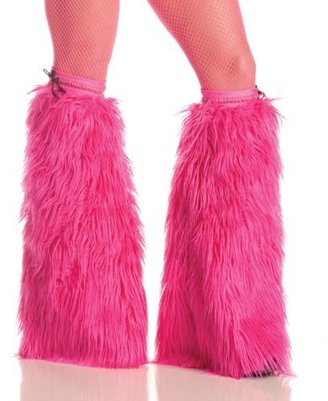 Party King Women's Neon Furry Boot Covers