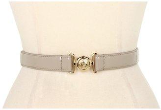 Anne Klein 1 Patent Belt w/ Lion Interlock (Khaki) - Apparel