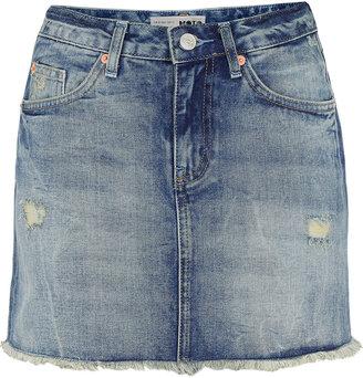 Topshop MOTO Waterless Denim Pelmet Skirt