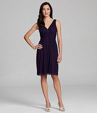 Donna Morgan Bridesmaid V-Neck A-Line Dress