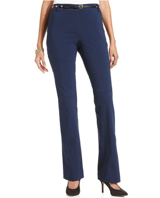 Style&Co. Straight-Leg Belted Pants