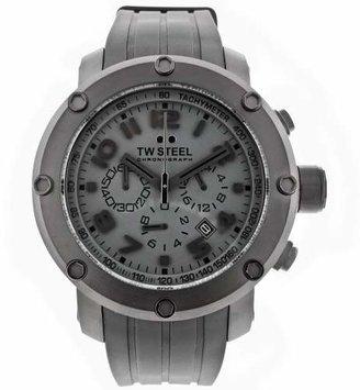 TW Steel Men's TW128 Grandeur Tech Black Rubber Chronograph Dial Watch