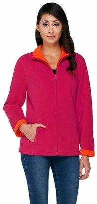 Susan Graver Bonded Polar Fleece Zip Front Jacket