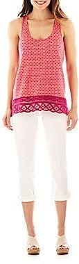 JCPenney a.n.a® Racerback Tank Top or Thickstitch Cropped Jeans