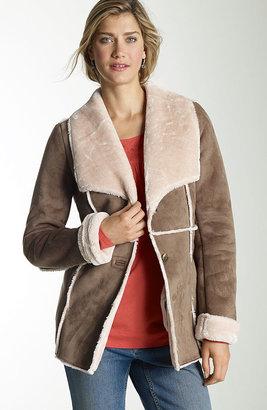 J. Jill Faux-shearling ranch coat