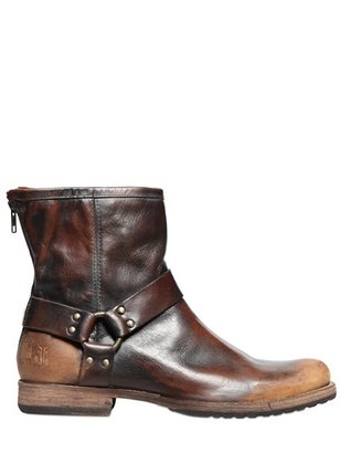 Frye Phillip Harness Sanded Leather Boots