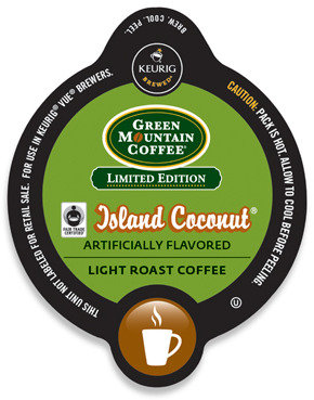 Keurig Vue(TM) Pack Green Mountain Coffee® Island Coconut® Coffee for Vue - 16 Count
