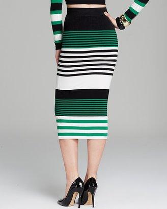 Torn By Ronny Kobo Skirt - Ronny Alternate Stripe