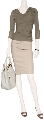 Donna Karan Khaki Draped Top