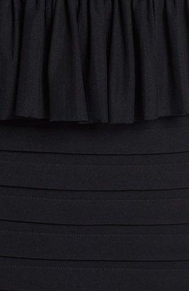 Jax Mixed Media Peplum Sheath Dress
