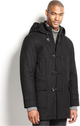 Sean John Coat, Duffle Toggle Wool-Blend Coat with Removable Hood