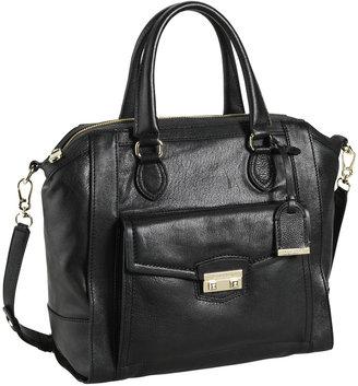 Cole Haan Zoe Structured Leather Satchel, Black