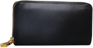 Christopher Kon Black Leather Clutch Wallet