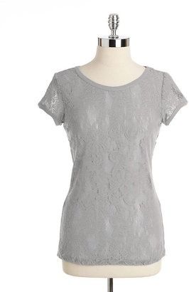 Lord & Taylor Lace T-Shirt