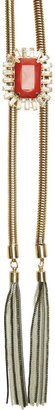 Arden B Rope Chain & Stone Necklace