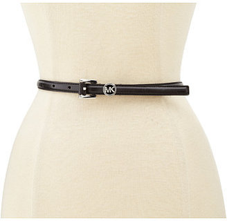 MICHAEL Michael Kors Michael Kors Feather Edge Panel Belt With Wrapped Classic Roller