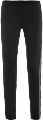 DKNY Double-leather trim leggings