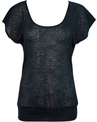 Charlotte Russe Python Burn Out Top