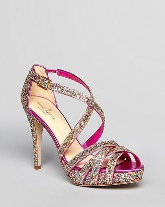 Kate Spade Glitter Platform Sandals - Ginger High Heel