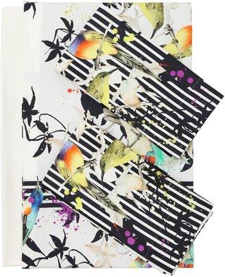Bird Ramage Cotton Duvet Cover Set