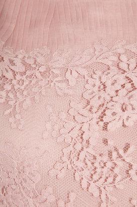 Valentino Lace and pleated silk-organza dress