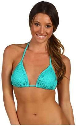 Ella Moss Rhapsody Removable Soft Cup Triangle Bra (Teal) - Apparel