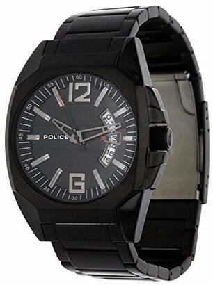 Police Men's PL-12897JSB/02M Interstate IP Stainless Steel Bracelet Date Watch