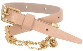 Alexander McQueen Black Skull Chain Double Wrap Bracelet